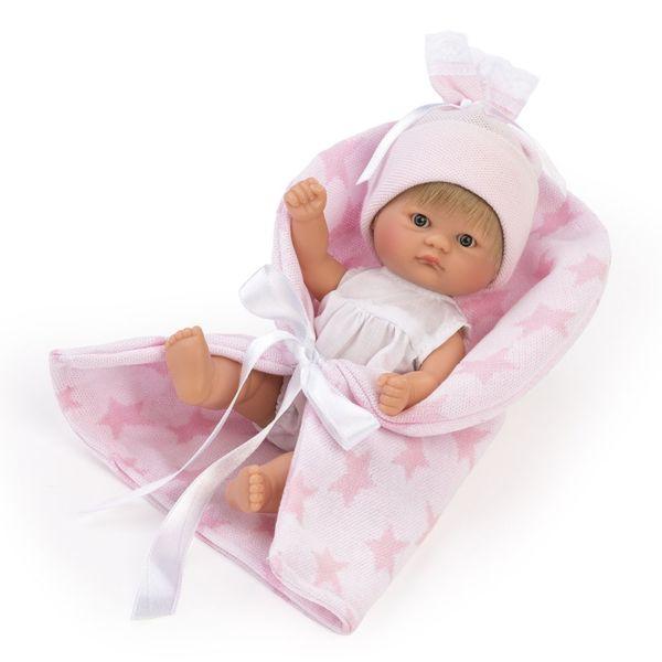 Кукла-бебе Чикита, с розово одеалце