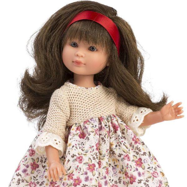 Кукла Силия, с рокля на цветя, 30 см