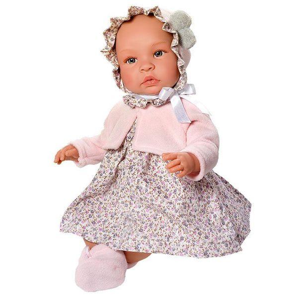 Кукла-бебе, Лея, с рокля на цветя