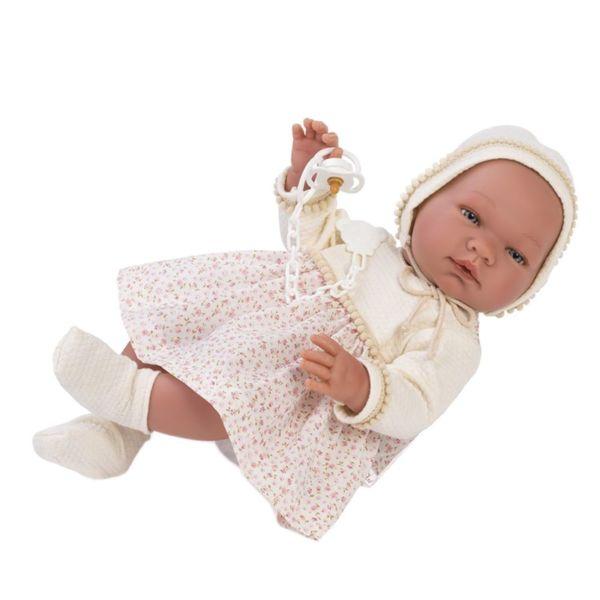 Кукла-бебе, Мария с рокля на цветя, 43 см