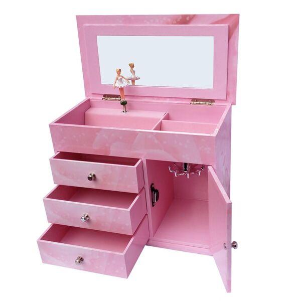 Музикална кутия за бижута с чекмеджета -  Балерина