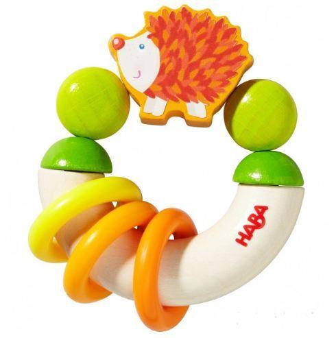 Бебешка дървена играчка - Таралеж