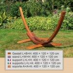 Стойка за хамак 400 cм - масивно дърво