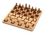 Cayro - Дървен Шах и дама в метална кутия