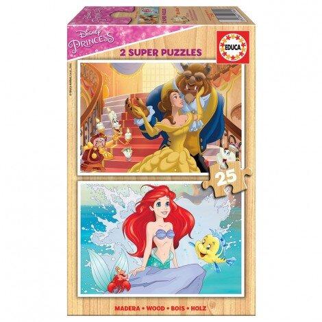 Детски пъзел  Disney princess 2 х 25