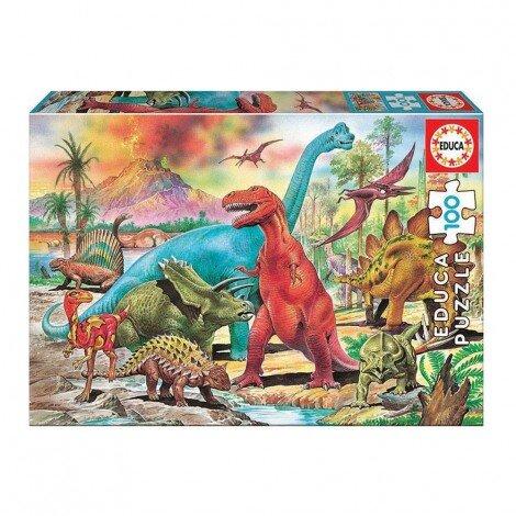 Детски пъзел – Свят на динозаври, 100ч