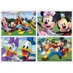Детски пъзел Mickey и приятели 4бр