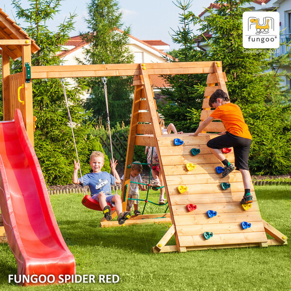 Fungoo SPIDER - люлка, мрежа и стена за катерене
