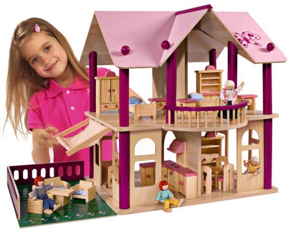 Двуетажна къща за кукли