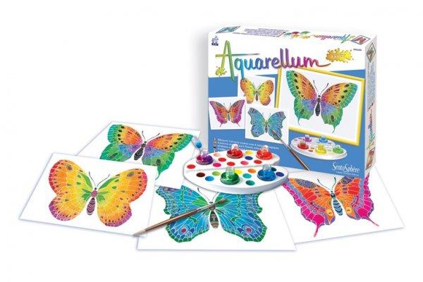 Комплект за оцветяване с бои пеперуди