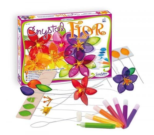 Игра създай цветя от цветно стъкло