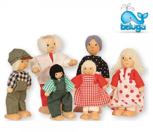 Комплект дървени кукли 6 бр.