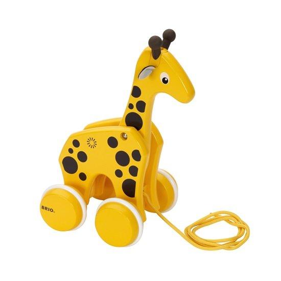 Играчка за дърпане Жирафче