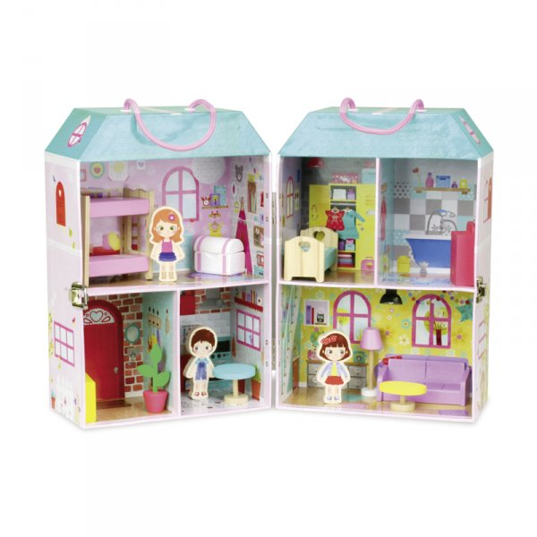 Къща за кукли в куфар