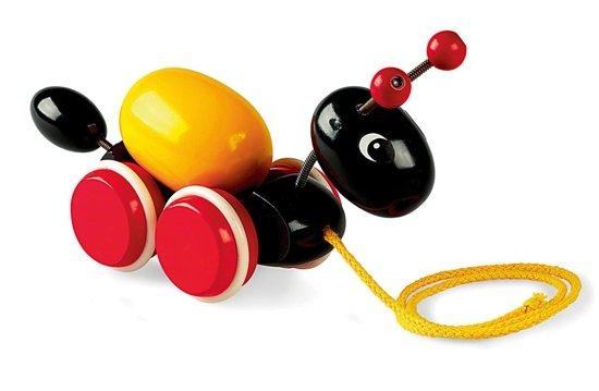 Играчка за дърпане Мравка с яйце