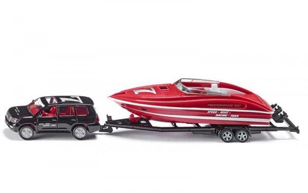 Количка с лодка Car with motorboat