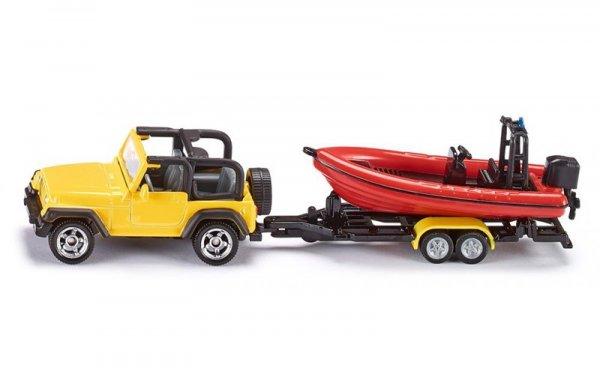 Джип с ремарке и лодка