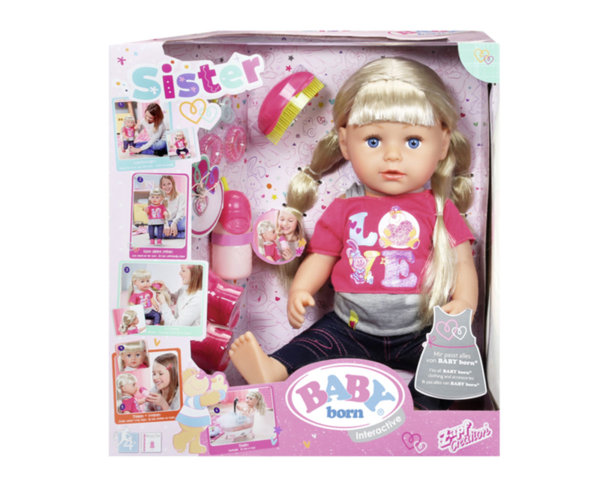 Zapf Creation Baby Born -  Кукла с дълга коса и аксесоари