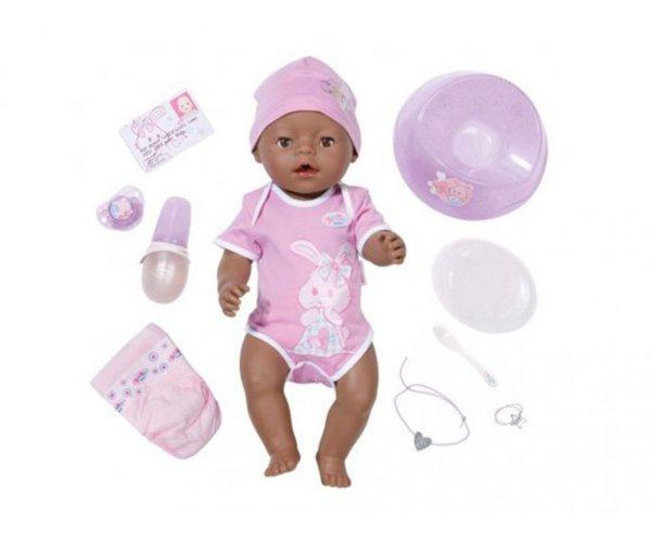 Zapf Baby Born -Интерактивно бебе с аксесоари - етническо