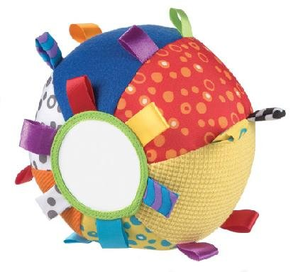 Звъняща мека топка с етикети