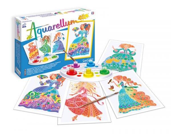 Комплект за оцветяване Акварелиум принцеси