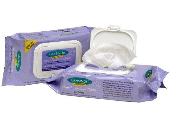 Lansinoh Мокри кърпички за бебета с ланолин