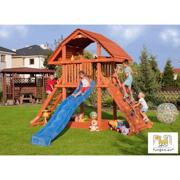 Детска кула с площадка и пързалка