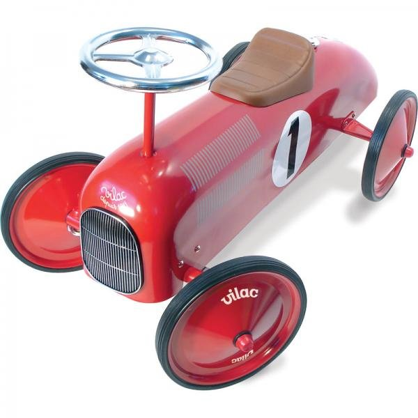 Метална кола червена