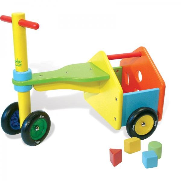Дървено колело триколка с кубчета