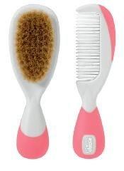 Комплект гребен и четка - естествен косъм