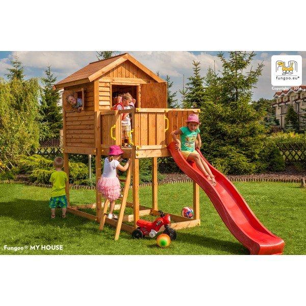 Детска площадка с къщичка и пързалка My House