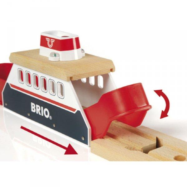 Играчка дървена ферибот за влакчета