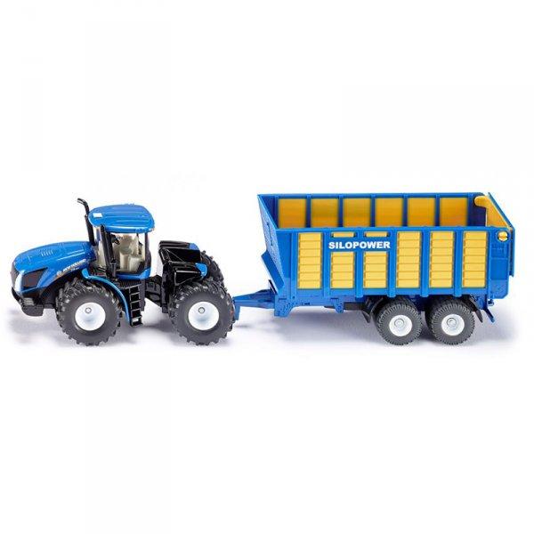 Трактор с ремарке New Holland