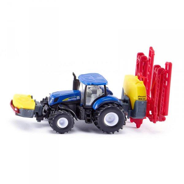 Трактор New Holland с разпръсквач Kverneland