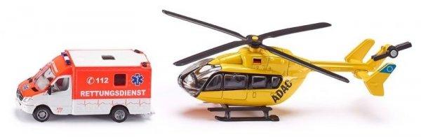 Бус и хеликоптер Бърза помощ