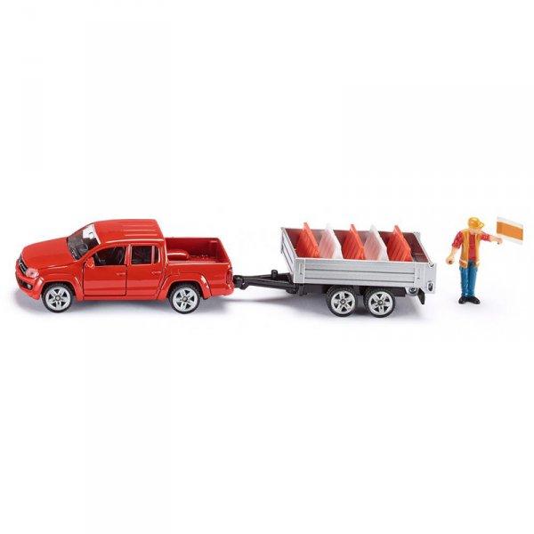 Пътностроителен джип с ремарке
