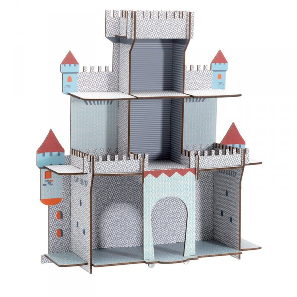 Дървена етажерка - рицарски замък