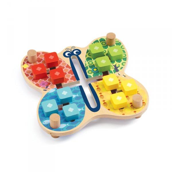 Дървена играчка пеперуда