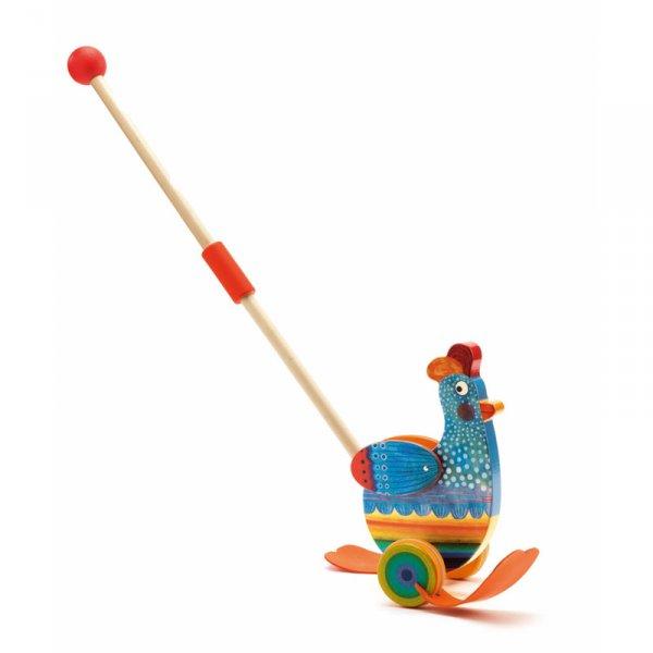Дървена играчка за бутане Betty