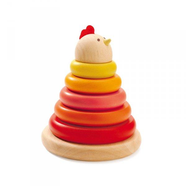 Дървена играчка за нанизване