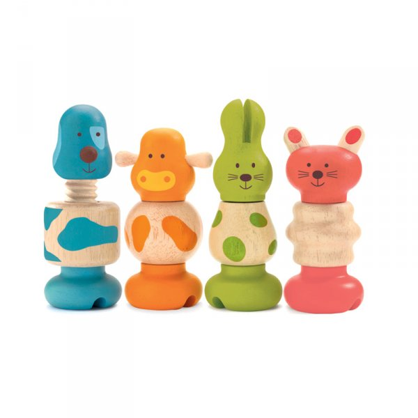 Дървена играчка за нанизване vis - animo