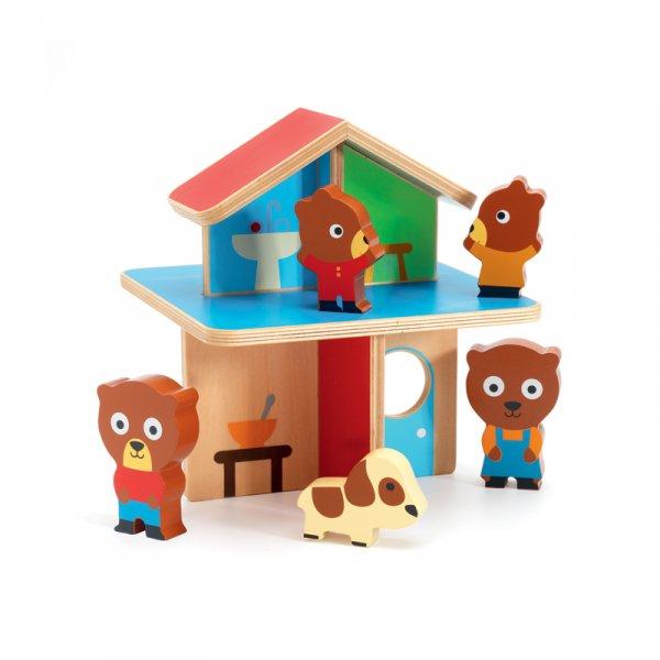 Дървена мини къщичка