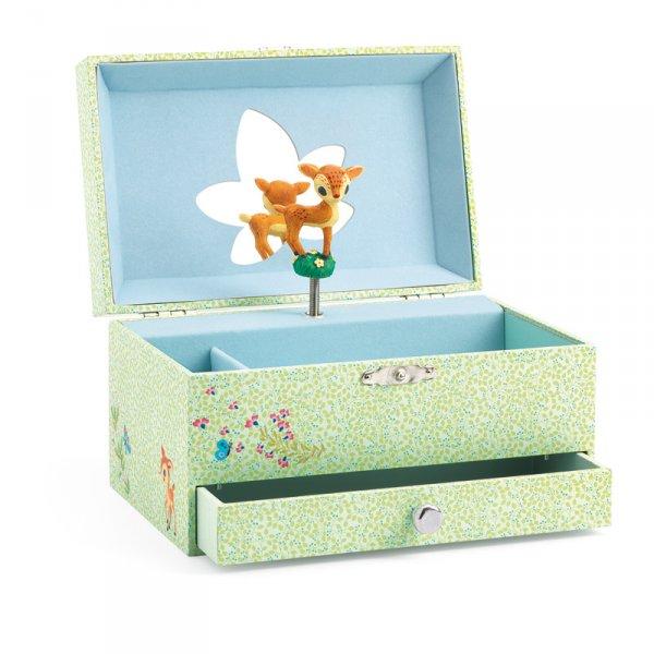 Музикална кутия за бижута - сърничка