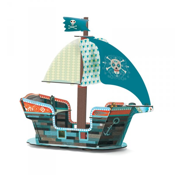 3D пъзел - пиратски кораб