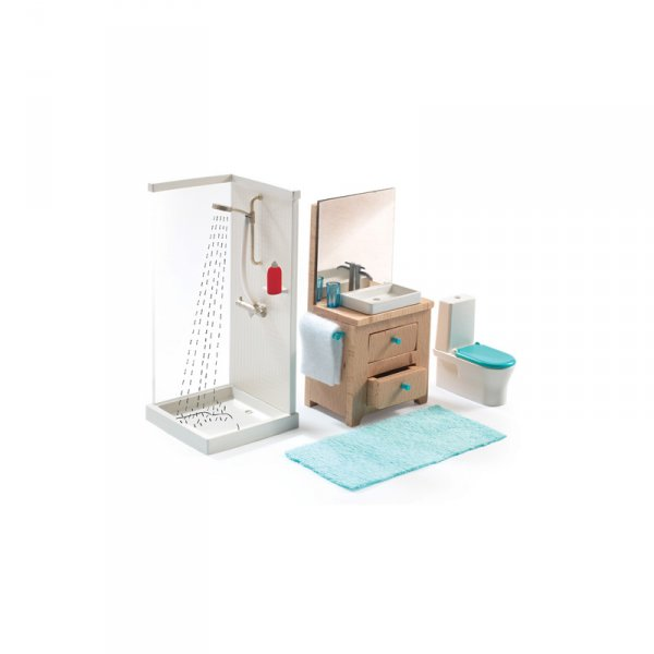 Обзавеждане за баня за куклена къща Color House
