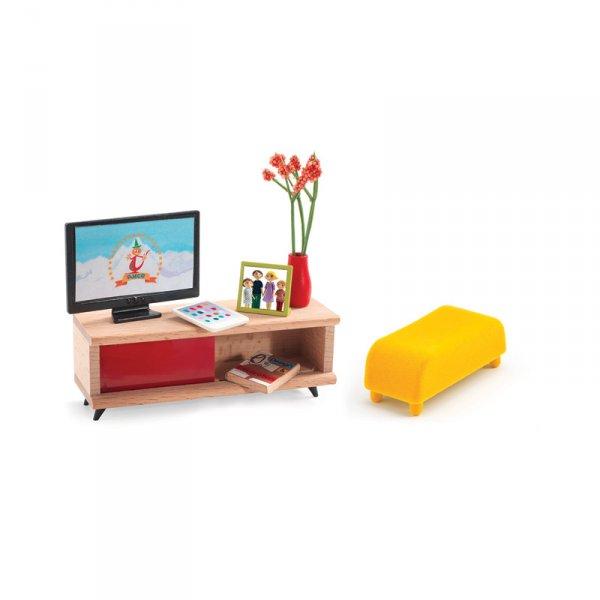 Обзавеждане за ТВ стая за куклена къща