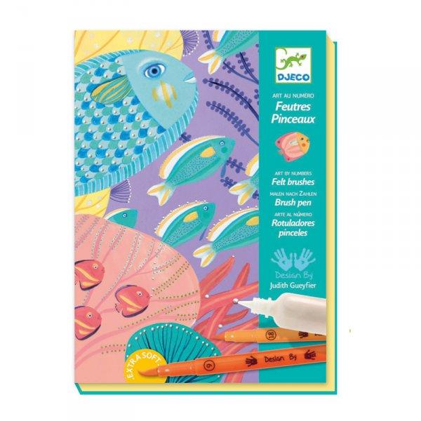 Комплект за оцветяване с флумастери - Морско дъно