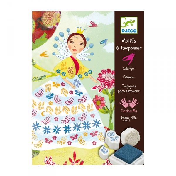 Комплект с печати и илюстрации - Красиви цветя