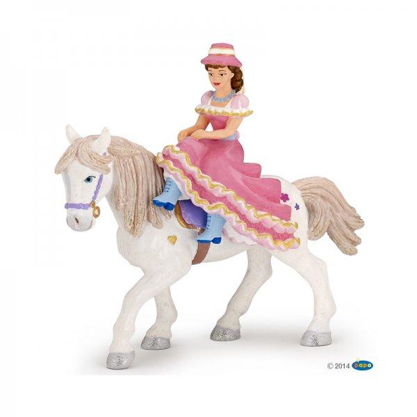 Фигурка дама на кон