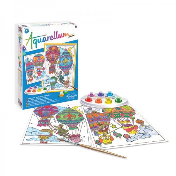 Комплект за оцветяване с акварелни бои Black Line балон